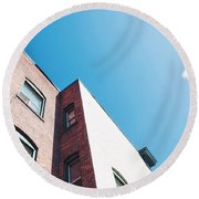 Spokane Brick Buildings 3 Round Beach Towel
