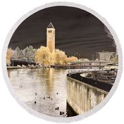 Spokane Fantasy 2 Round Beach Towel