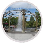 Spokane Fountain Round Beach Towel