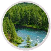 Spokane...the River And The City Round Beach Towel
