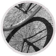 Spoke Shadows Round Beach Towel