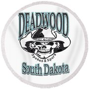 Spokes And Spurs Round Beach Towel