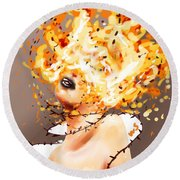 Spontaneous Combustion Round Beach Towel