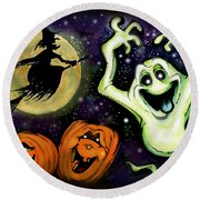 Spooky Round Beach Towel