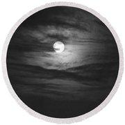 Spooky Moon 2 Round Beach Towel