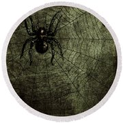 Spooky Spider Round Beach Towel