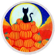 Spooky The Pumpkin King Round Beach Towel