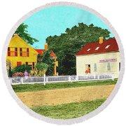 Spooner's Paint Shop Round Beach Towel