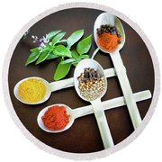 Spoons N Spices Round Beach Towel