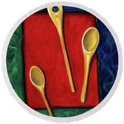 Spoons Round Beach Towel
