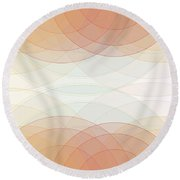 Sport Semi Circle Background Horizontal Round Beach Towel