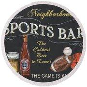 Sports Bar Round Beach Towel