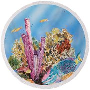 Spotlight Parrotfish Round Beach Towel