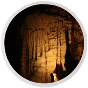 Spotted Growth - Cave Round Beach Towel