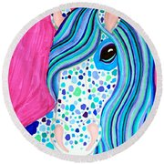 Spotted Horse Round Beach Towel