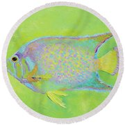 Spotted Tropical Fish Round Beach Towel