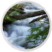 Sprague Creek Glacier National Park Round Beach Towel