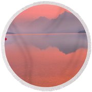 Sprague Fire Smokey Reflections Round Beach Towel