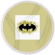 Spray Paint Batman Logo Round Beach Towel