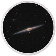 Sprial Galaxy Ngc 4565 Round Beach Towel