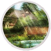 Spring - Garden - The Pool Of Hopes Round Beach Towel