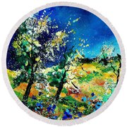 Spring 56 Round Beach Towel