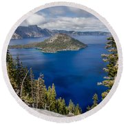Spring Afternoon From Discovery Point Round Beach Towel