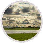 Spring Along The Shubenacadie River Round Beach Towel