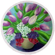 Spring As A Gift Round Beach Towel