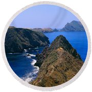 Spring At Anacapa Island, Channel Round Beach Towel