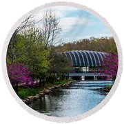 Spring At Crystal Bridges Round Beach Towel