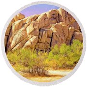 Spring At Joshua Tree Round Beach Towel