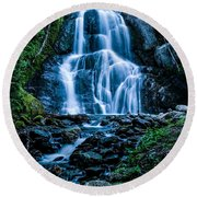 Spring At Moss Glen Falls Round Beach Towel