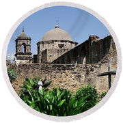 Spring At The Mission Round Beach Towel