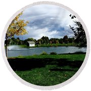 Spring At The Park Round Beach Towel