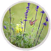 Spring Beauties In The Garden Round Beach Towel