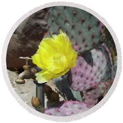 Spring Bloom Round Beach Towel