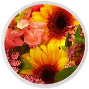 Spring Bouquet 1 Round Beach Towel