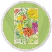 Spring Bouquet  Round Beach Towel