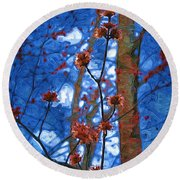 Spring Buds Round Beach Towel