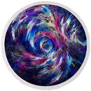 Spring Caught In The Maelstrom Round Beach Towel