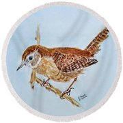 Spring Cleaning Round Beach Towel