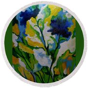 Spring Delight Round Beach Towel