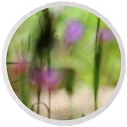 Spring Dreams Abstract Round Beach Towel