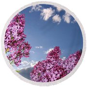 Spring Evening Round Beach Towel