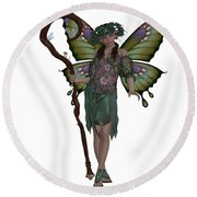 Spring Fairy Round Beach Towel