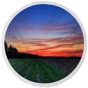 Spring Field Round Beach Towel