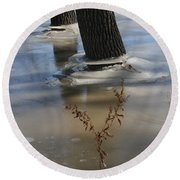 Spring Flood Round Beach Towel