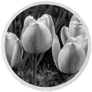 Spring Garden - Act One 2 Bw Round Beach Towel