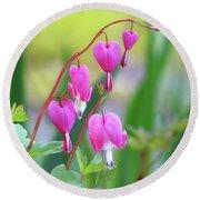 Spring Hearts - Flowers Round Beach Towel